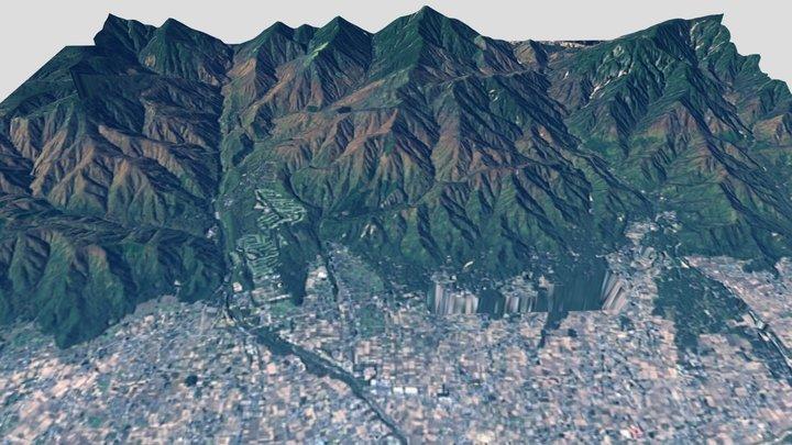 穂高F9号墳が位置する地形 ver.2 3D Model