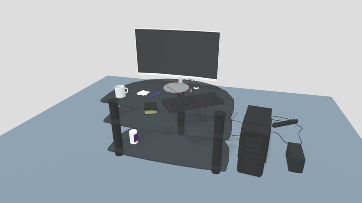40minutes - Lazy Work Place 3D Model