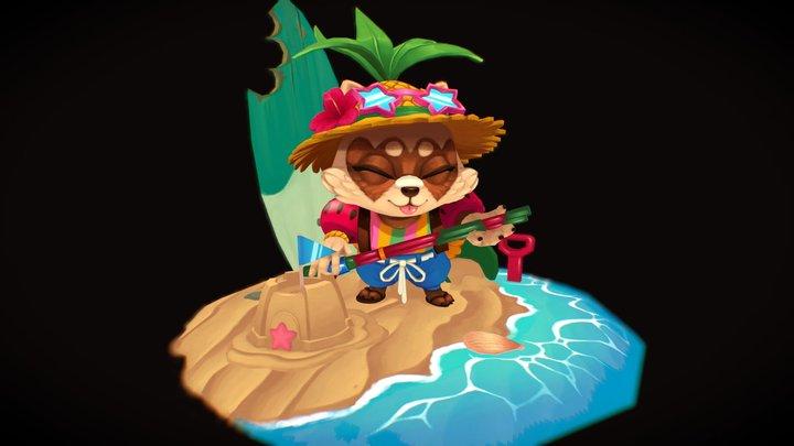 Pool Party Teemo (Fan Art) 3D Model