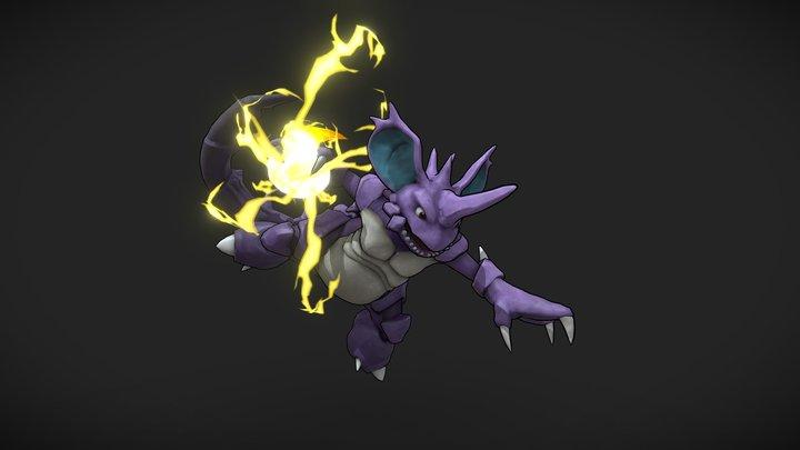 Nidoking - Pokemon 3D Model