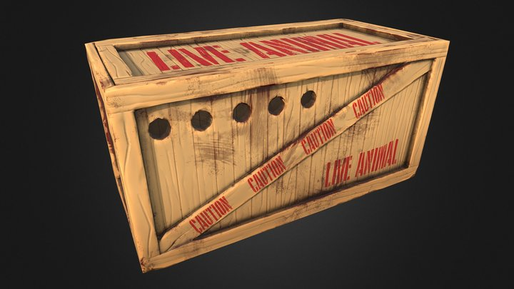 Live Animal Crate 3D Model
