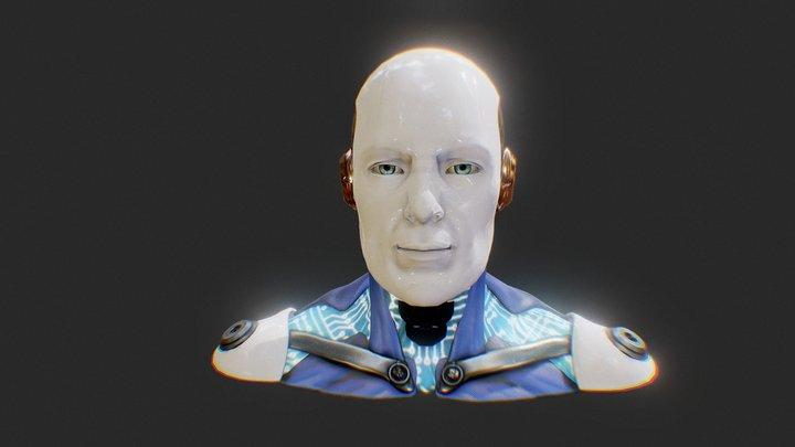 Robotic Head 3D Model