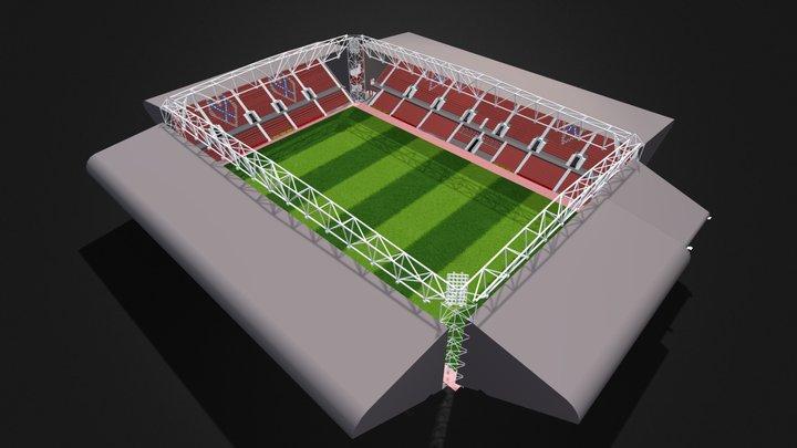 Tynecastle Stadium 3D Model
