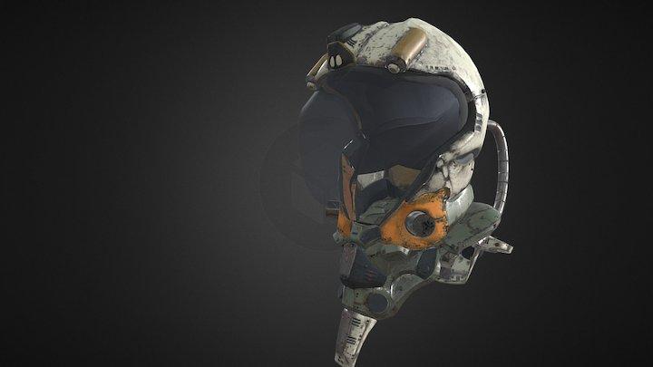 Sci Fi Helmet 3D Model