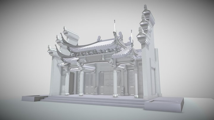 Chinese Style Architecture 3D Model