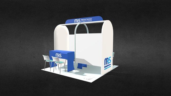 Medical Services, Punto Móvil de Servicio Médico 3D Model