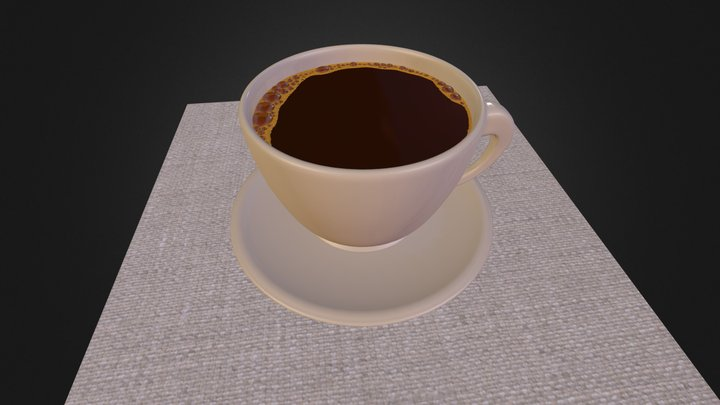 Cup Of Coffee (Blender/Cycles) 3D Model