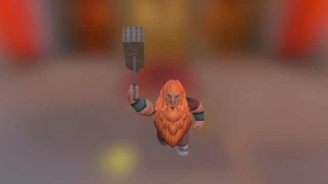 Dwarf Master 3D Model