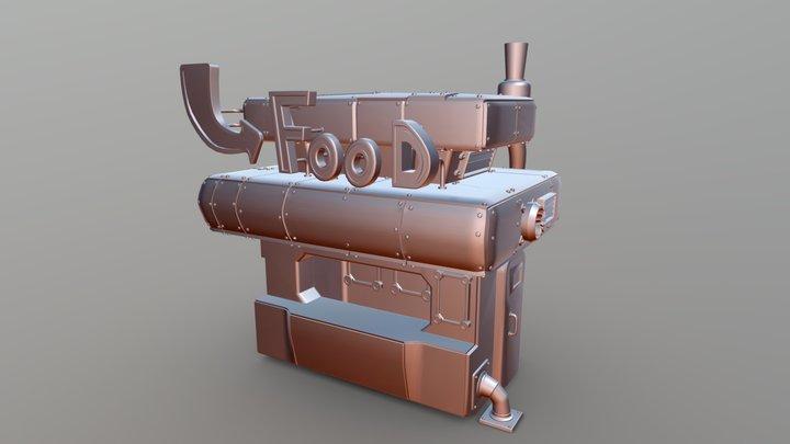 Food shop - high poly 3D Model