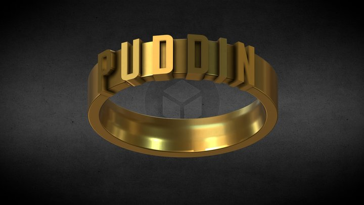 PUDDIN  Harley Quinn ring for 3d printing 3D Model