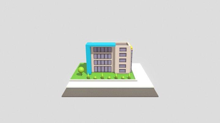Prédio Low Poly 3D Model