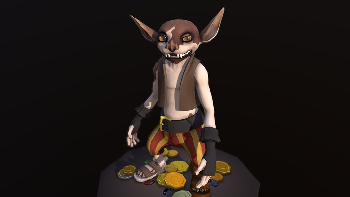 Gerblin Pose 3D Model