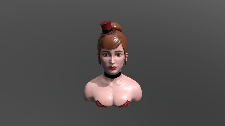 Saloon Girl 3D Model