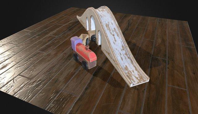 Toy Train Final 3D Model