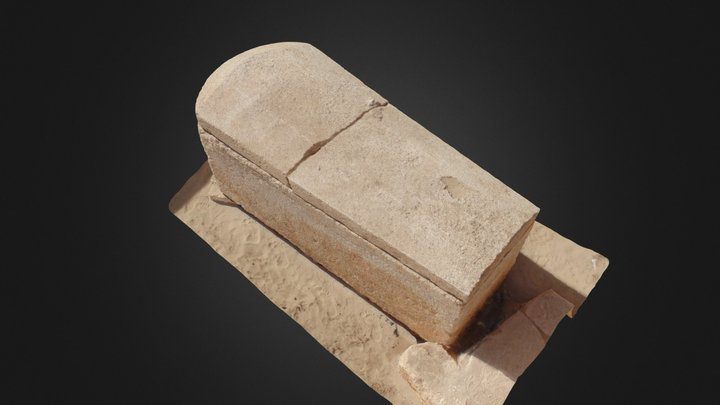Sarcófago Saíta nº 12 tumba 14 - Oxirrinco 3D Model