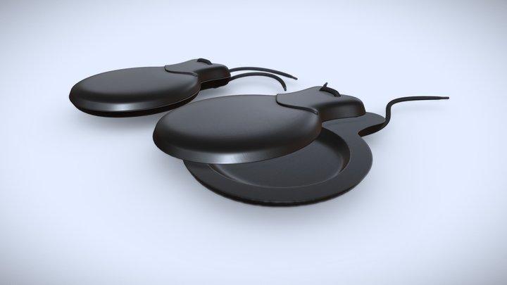 Castanets Percussion Instrument 3D Model