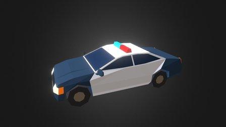 LowPoly Police Car 3D Model