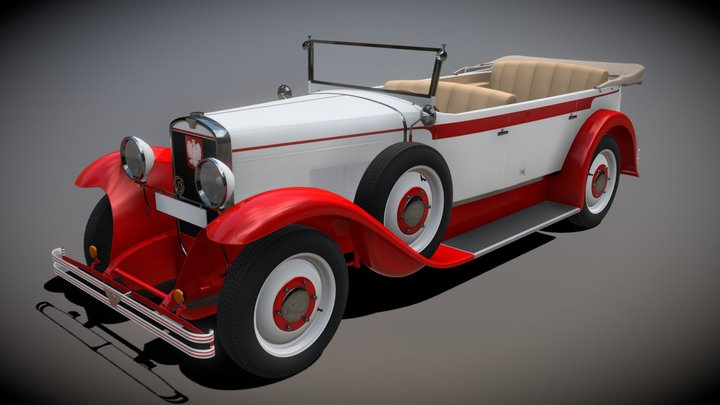 "CWS T-1 ""Torpedo"" - Vintage Polish car from 1925 3D Model"