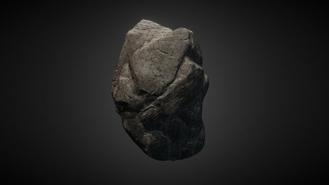 Rock 03 Low Resolution Mesh 3D Model