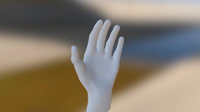 Anne-Charlotte main gauche 3D Model