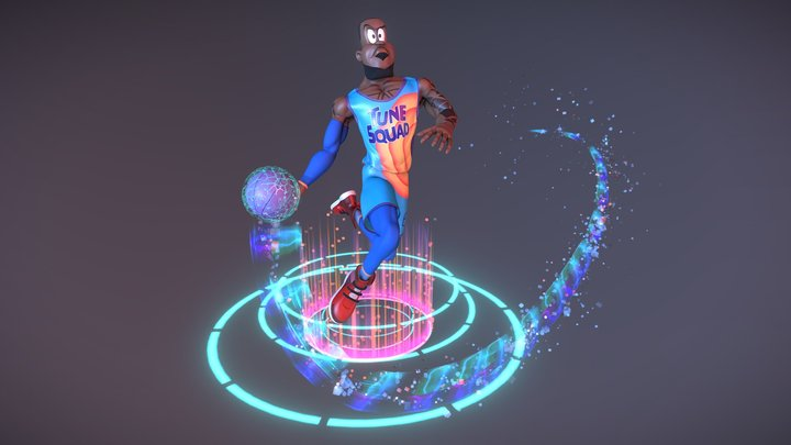 Space Jam - Lebron James Stylized Character 3D Model