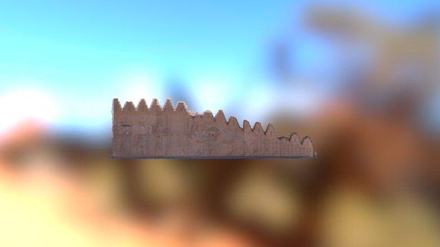 A relief in Persepolis 3D Model