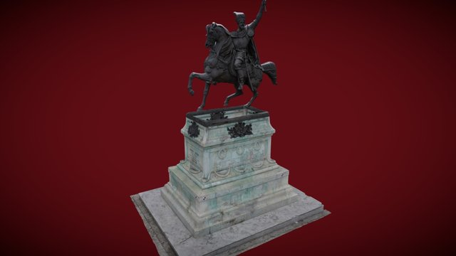 Statue of Mihai Viteazul 3D Model