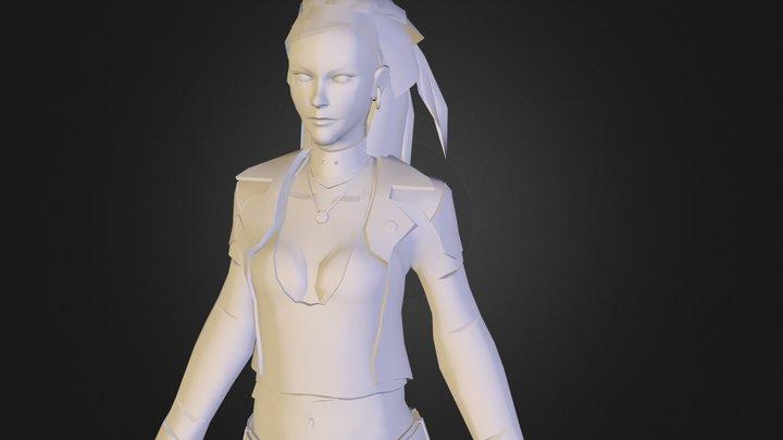 WIP Female Techno Viking 3D Model