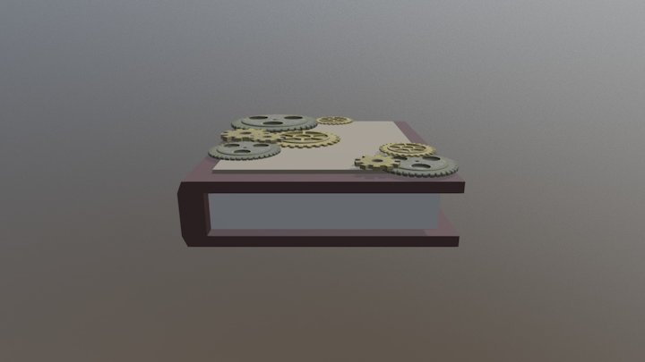 Low-Poly Steampunk series 3/6: Book 3D Model