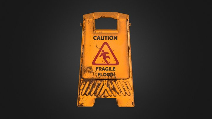 Warning_Signboard 3D Model
