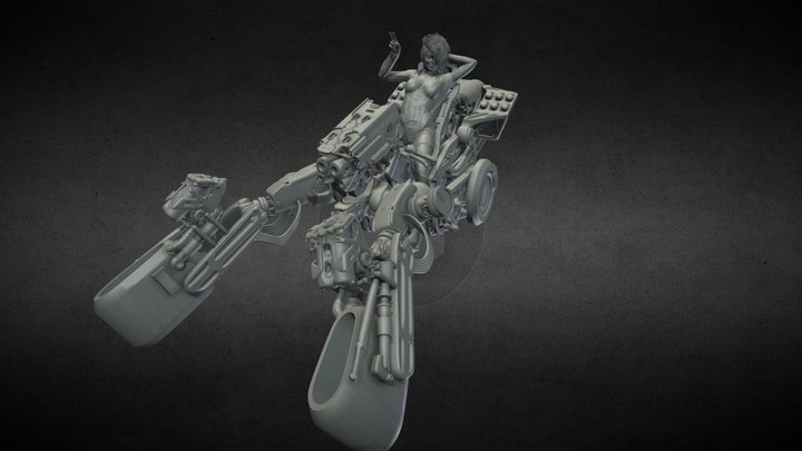 Ion tricycle - Sci-Fi Motorcycle. 3D printable 3D Model
