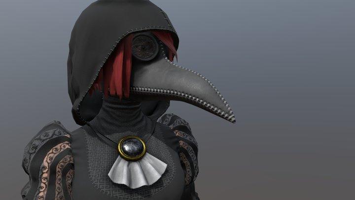 Plague Masked 3D Model