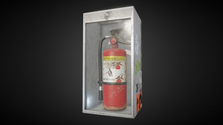 Neglected Fire Extinguisher 3D Model