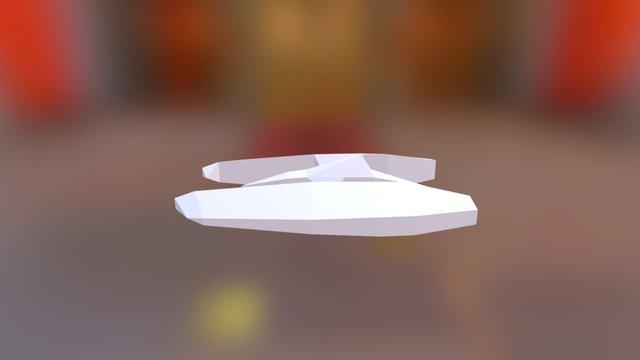 Low-Poly Sci-Fi Plane 3D Model