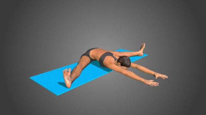 Yoga Pose UpavistHa Konasana 3D Model