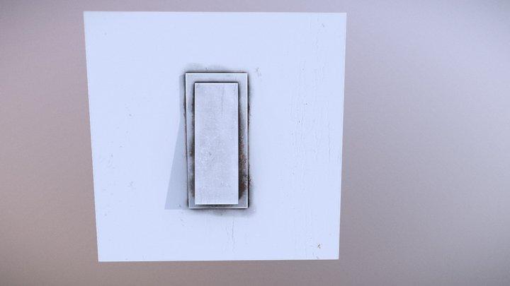 Old Light Switch PBR 3D Model
