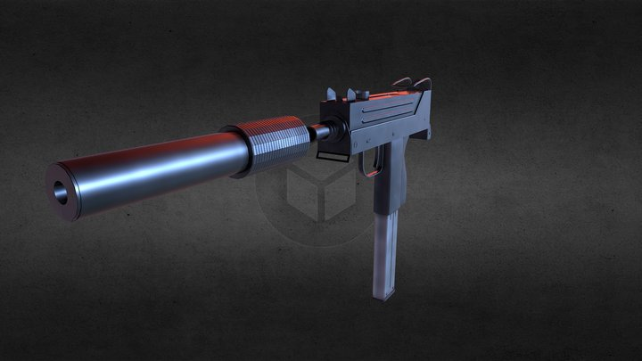 MAC-10 3D Model