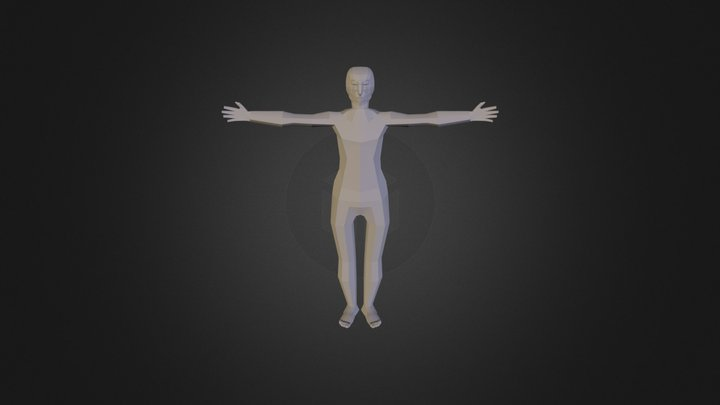 Woman Body Man Head 3D Model