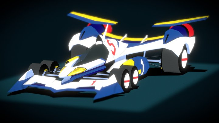 (Future GPX Cyber Formula) Super Asurada AKF-11 3D Model