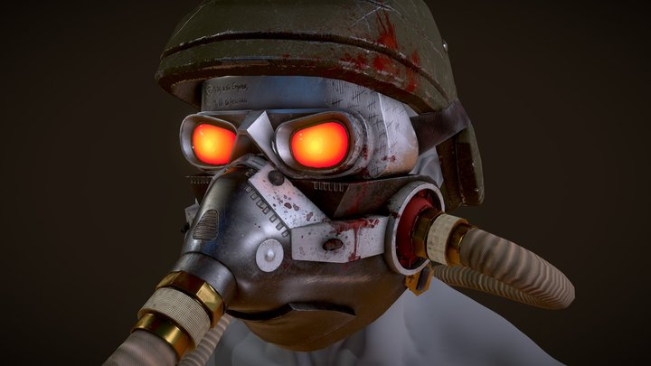 Killzone Helghast Helmet Remasterd 3D Model