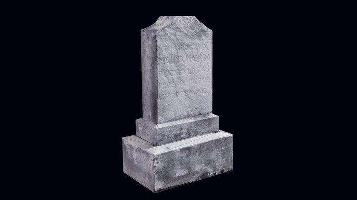 Realistic Gravestone Ultra Low Poly 3D Model