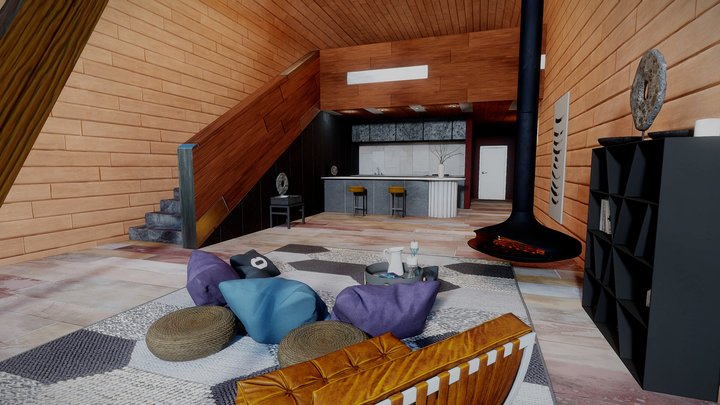 Winter Loft 3D Model