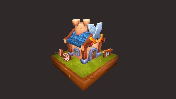 Battle Village - Barracks 3D Model