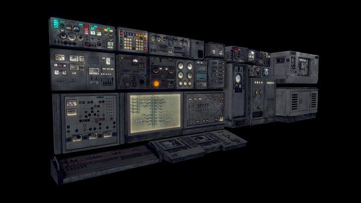 Equipment Control Panels 3D Model