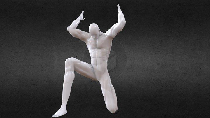 Anatomy study - Atlas Pose 3D Model
