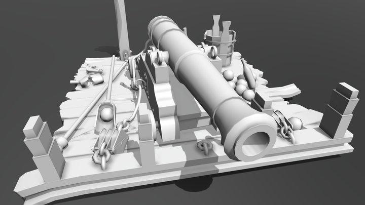 Gun_Low_Poly 3D Model