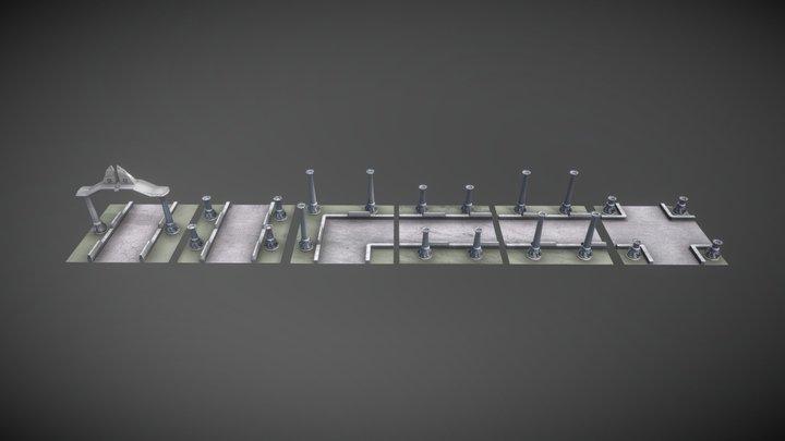 Stone walkway (MUD) 3D Model