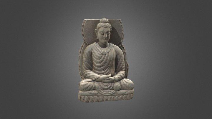 Gandharan sculpture fragments: Seated Buddha 3D Model