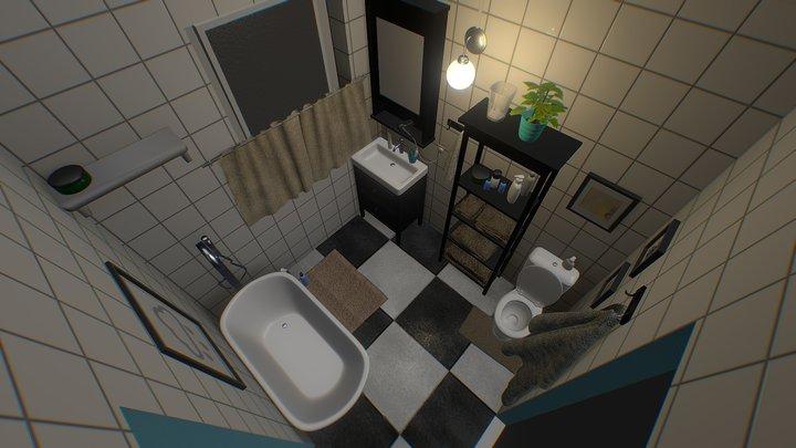 Bathroom Interior - Just mopped 3D Model