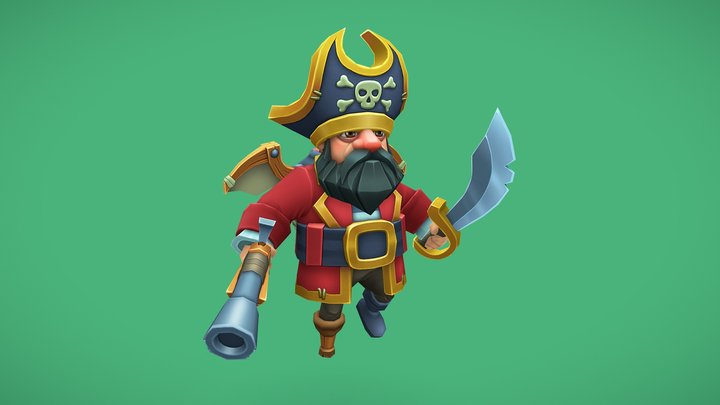 Flying pirate 3D Model